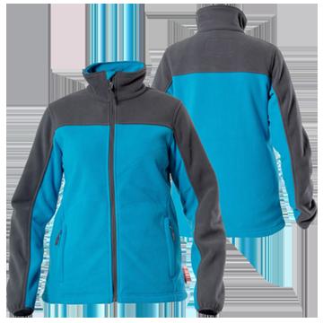 Куртка флисовая черно-синяя