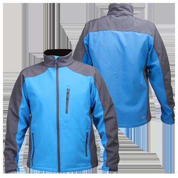 купить, заказать Куртка SOFT-SHELL серо-синяя