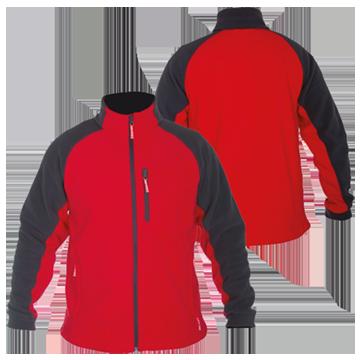 Куртка флисовая черно-красная
